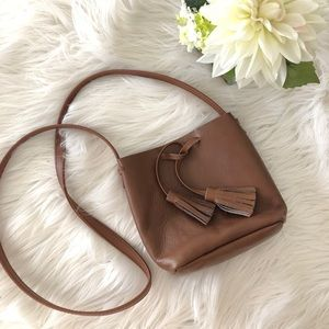 Shaffer LA leather bucket bag